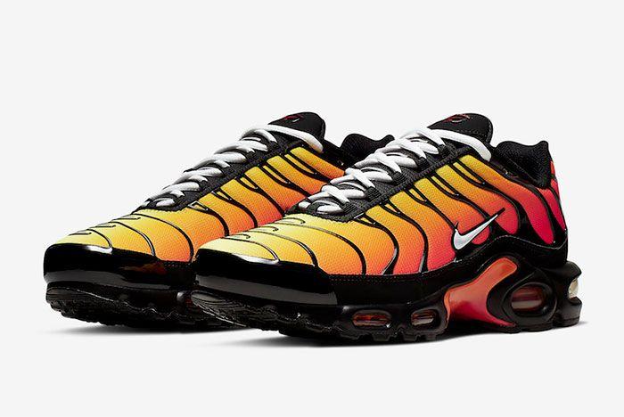 Nike Air Max Plus Tiger Black Orange Quarter