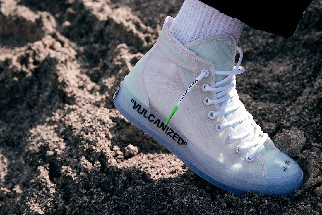 Off White X Converse Chuck 70 On Foot 11