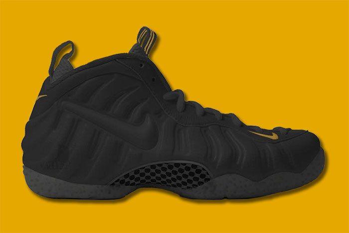 Nike Foamposite Black Gold