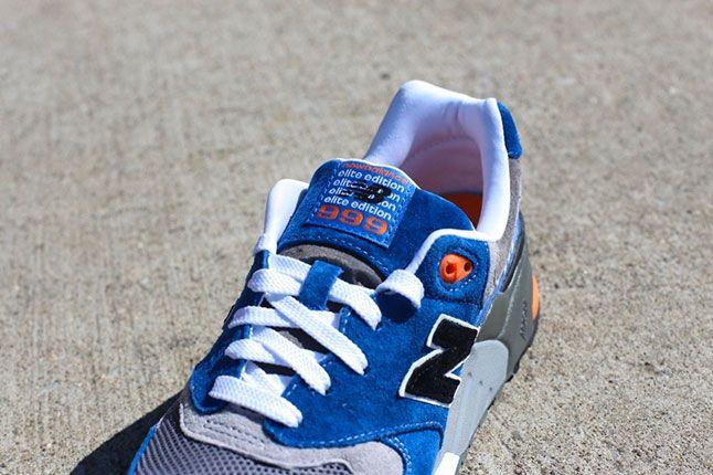 New Balance 999 Elite Blue Grey Orange Tongue 1