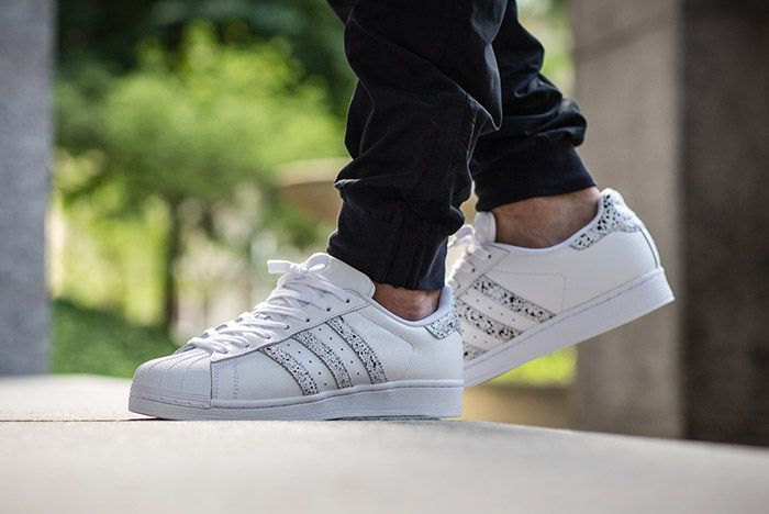 Adidas Superstar Speckled White Black 1