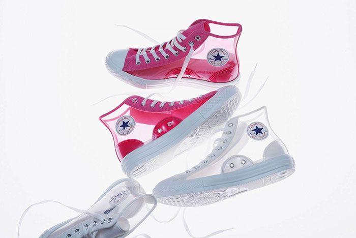Converse Japan All Star High Clear Pink White Aerial