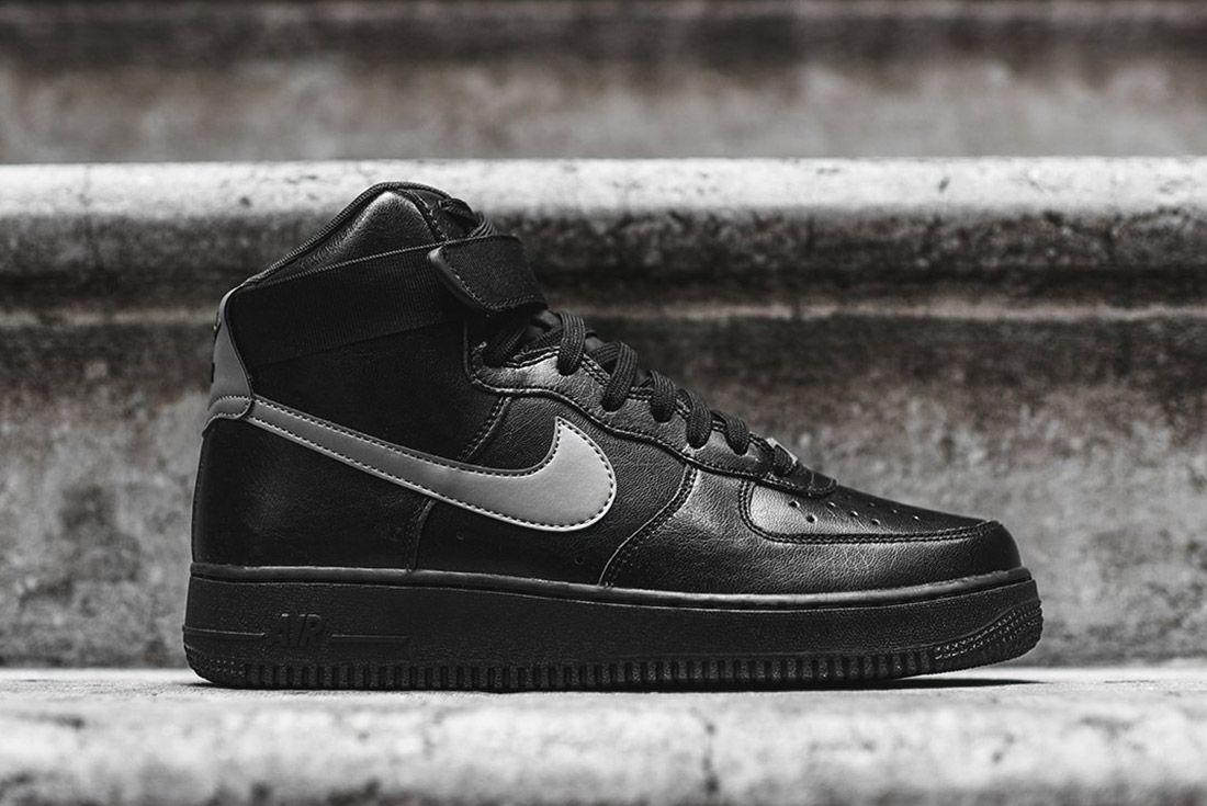 Nike Air Force 1 High Lv8 Black Silver 3