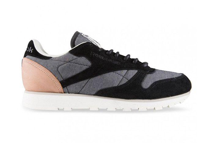 Reebok Classic Leather Black Grey Fleck 1