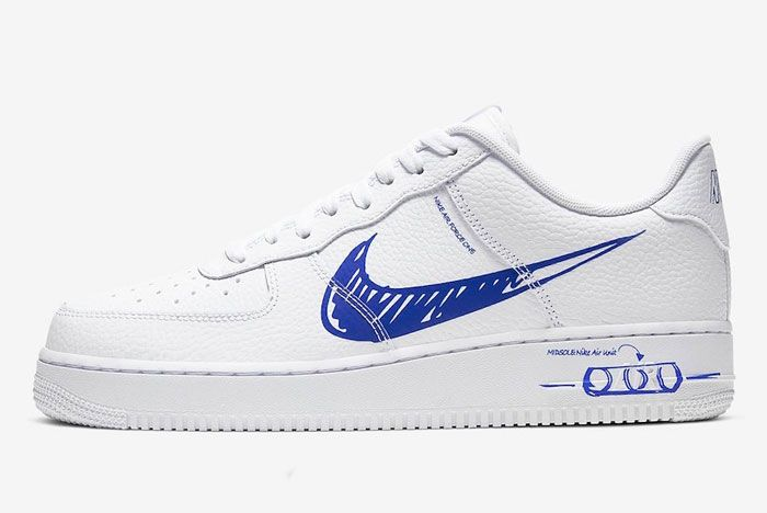 Nike Air Force 1 Sketch To Shelf Left