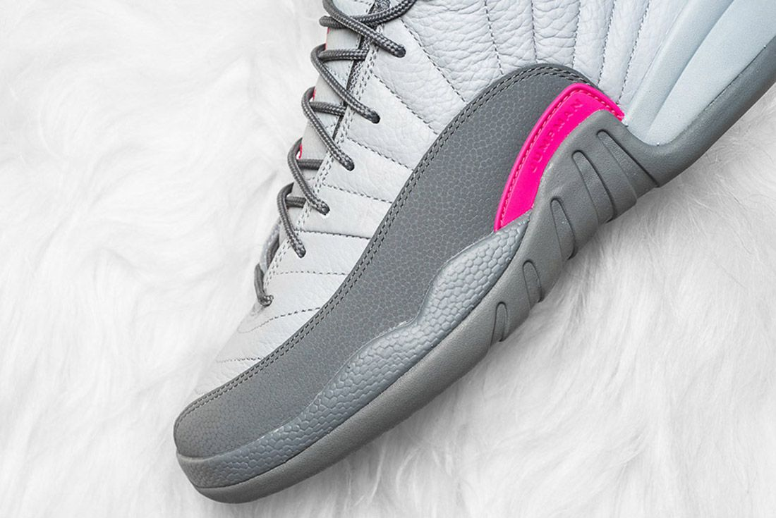 Air Jordan 12 Gs Wolf Grey Vivid Pink 5