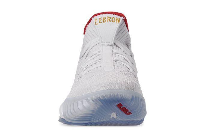 Nike Lebron 16 Low Draft Night Ci2668 100 Release Date Tongue
