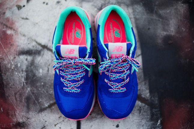 New Balance 574 Blue Candy Top Details 1