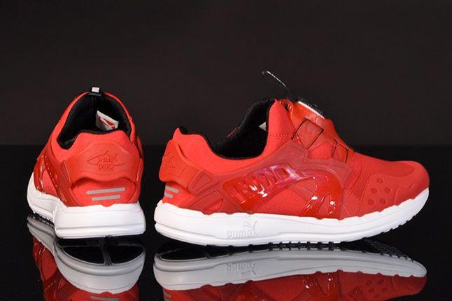 Puma Disc Ltwt Red Ribbon Heels 1