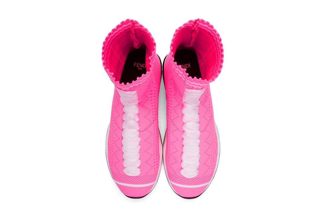 Fendi Pink Sock Sneaker Freaker 7