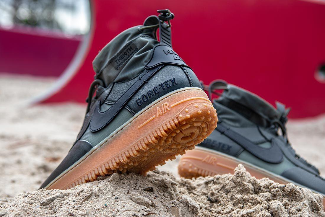 Nike Air Force 1 High Gore Tex Green Raised Heel
