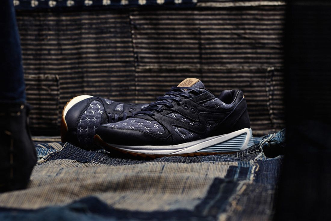 Up There Store Saucony Grid 8000 Sashiko Sneaker Freaker 6