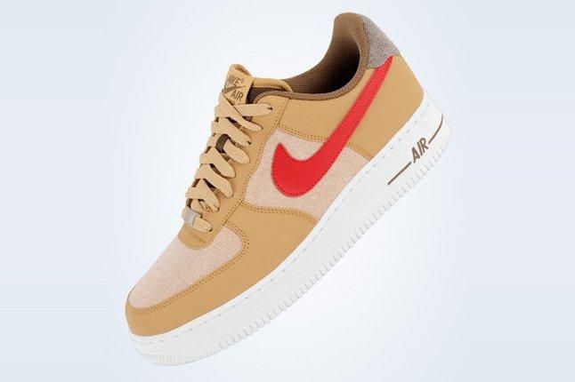 Nike Air Force 1 Low Jersey Gold White Canvas 4 1