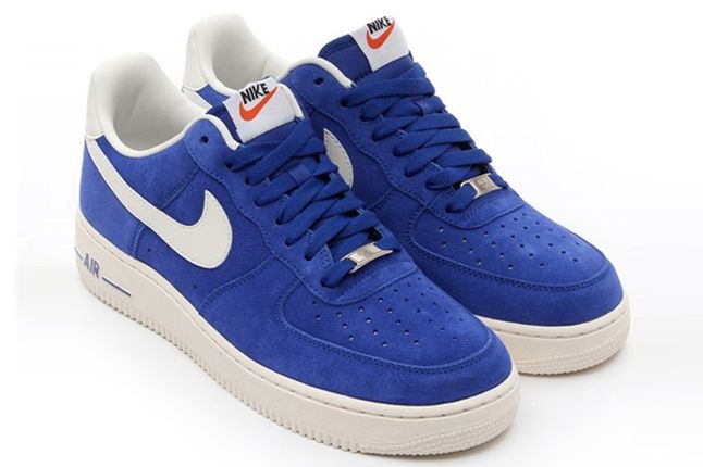 Nike Air Force 1 Low Suede Blue Angle Shot 1