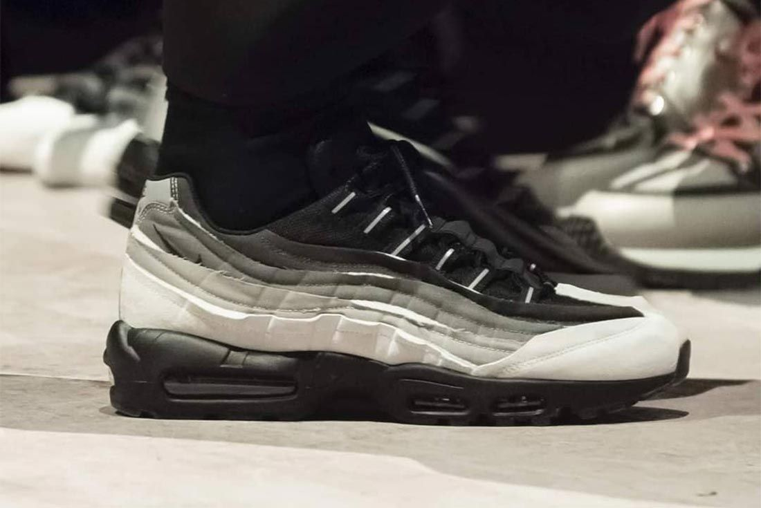 Comme Des Garcons Nike Air Max 95 Grey Black White Lateral Side Shot