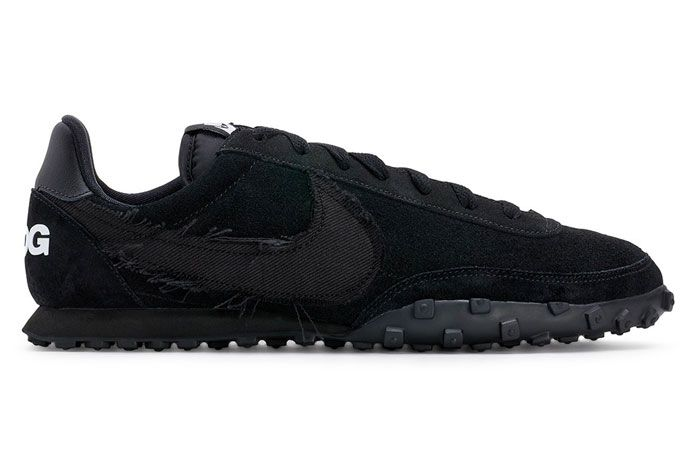 Comme Des Garcons Nike Waffle Racer 2 Black Right