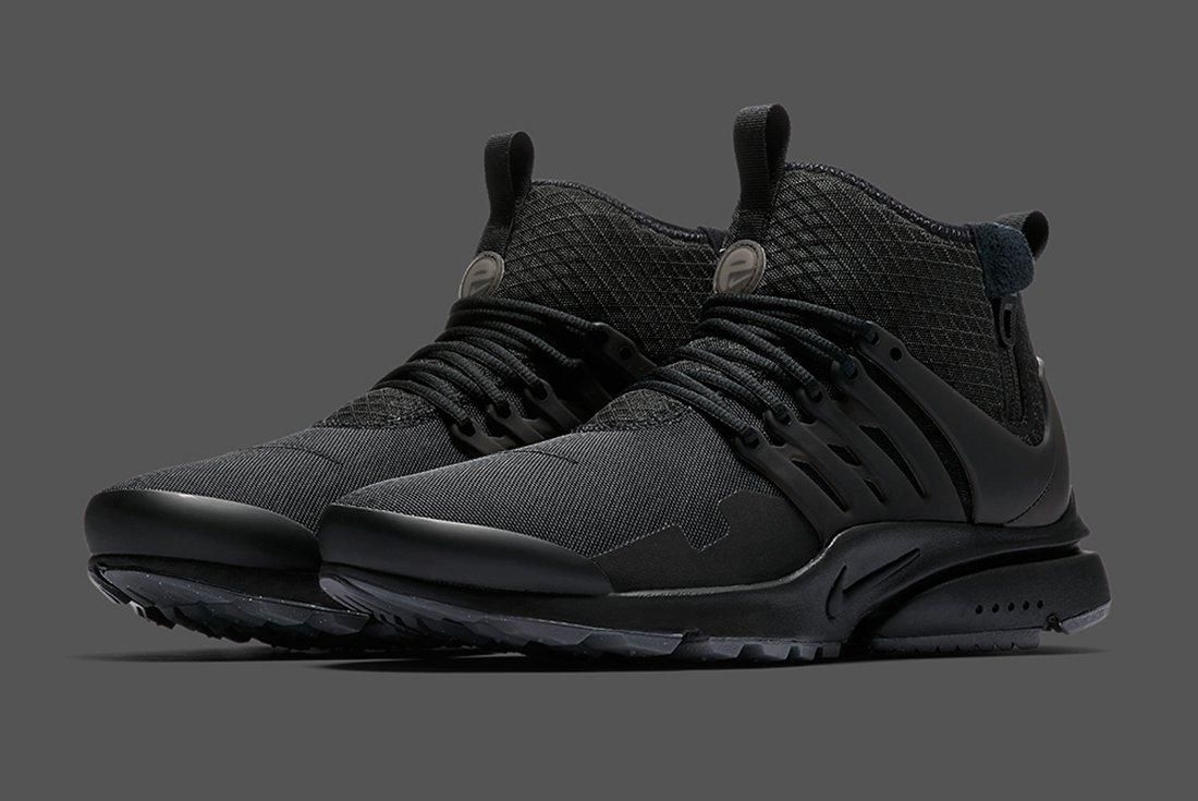 Nike Air Presto Mid Utility Triple Black 2