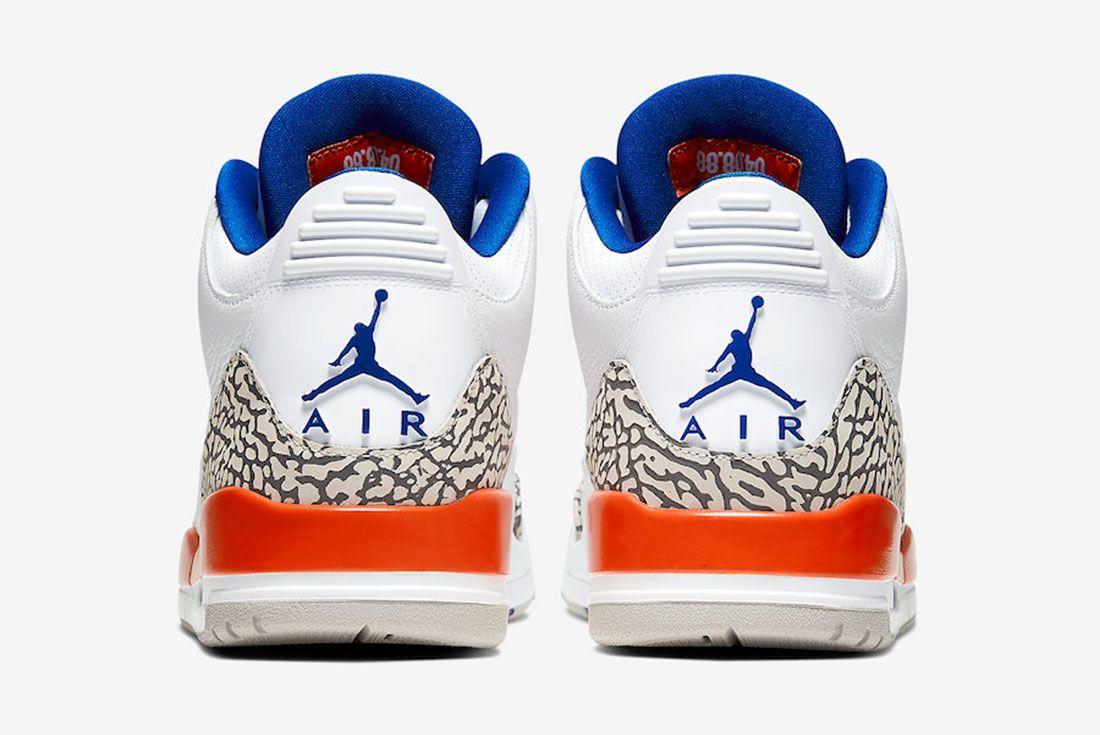 Air Jordan 3 Knicks 136064 148 2019 Release Date Price 5 Heel