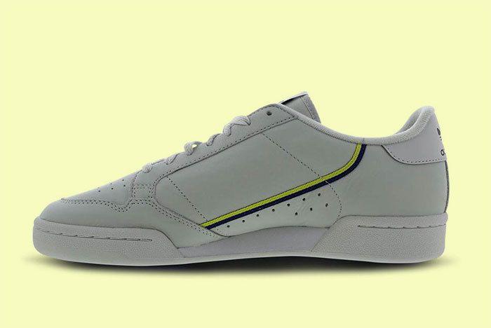Adidas Continental 80 Grey Yellow 2