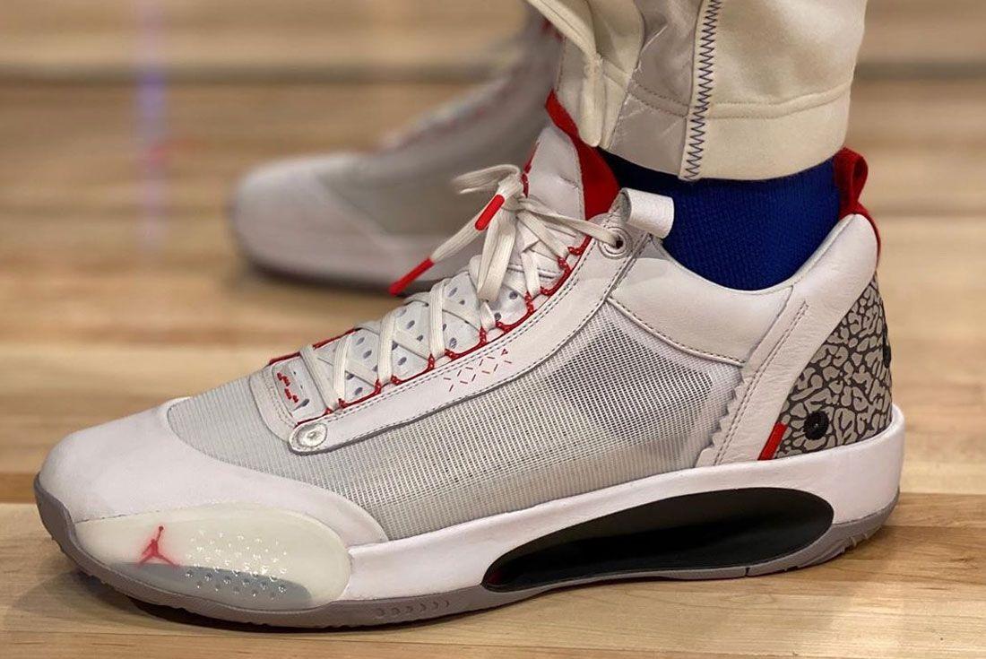 Air Jordan 34 Cement On Foot
