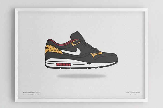 Sneaker Prints Air Max 1 Leopard