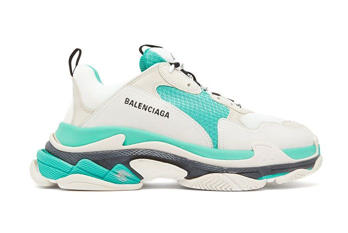 Balenciaga Triple S Lowtop White Grey Turquoise Release 11 Side