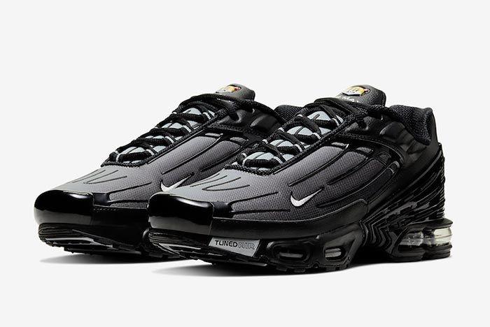 Nike Air Max Plus 3 Black Cj9684 002 Three Quarter Shot