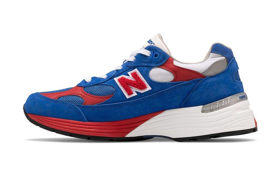 New Balance 992 Red White Blue Left