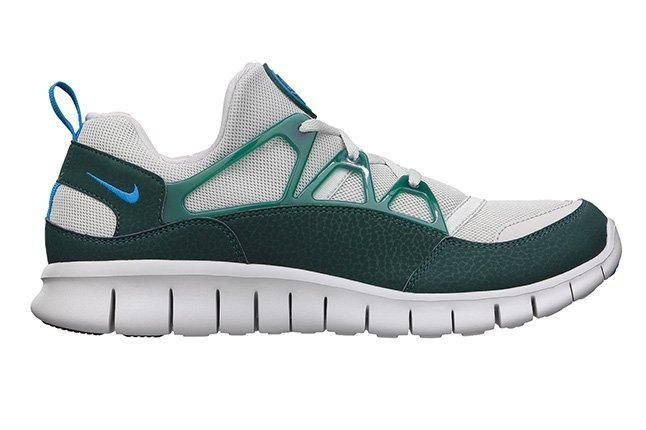 Nike Free Huarache Light Photo Blue Dark Atomic Teal Side 1