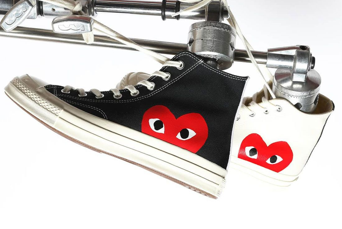 Comme Des Garcons Converse Play Lateral Side Shot