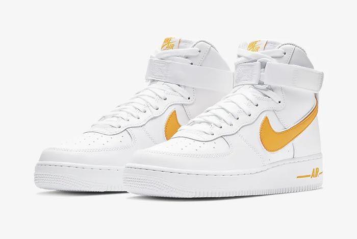 Nike Air Force 1 High White University Gold Pair