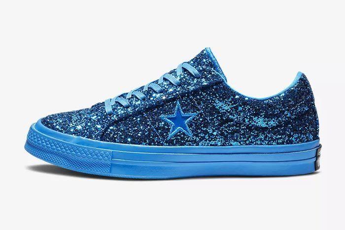 Converse One Star Blue Glitter 1
