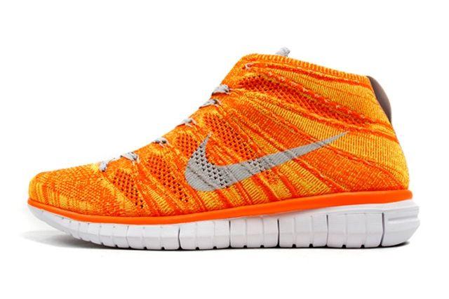 Nike Free Flyknit Chukka Orange Volt Thumb