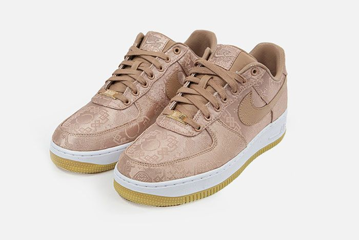 Clot Nike Air Force 1 Rose Gold Front Angle
