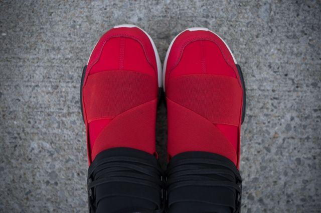 Adidas Y 3 Qasa High Black Red 2