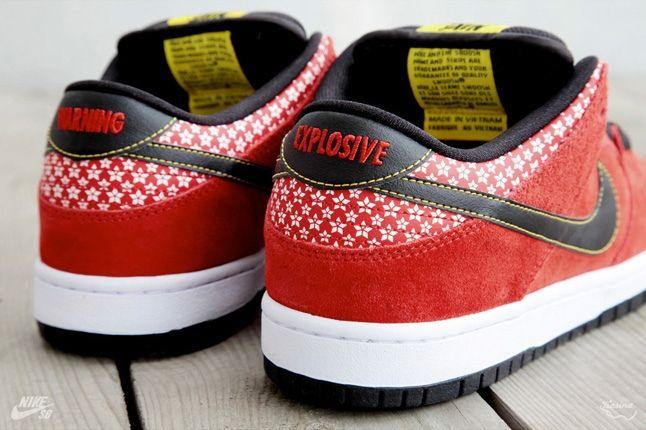 Nikesb Dunk Low Firecracker Pack Red Heel Detail 1