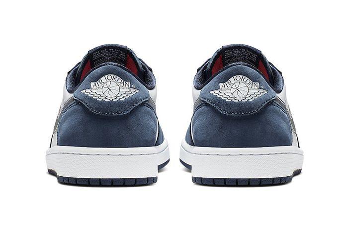 Nike Sb Air Jordan 1 Low Midnight Navy Cj7891 400 Release Date Heel