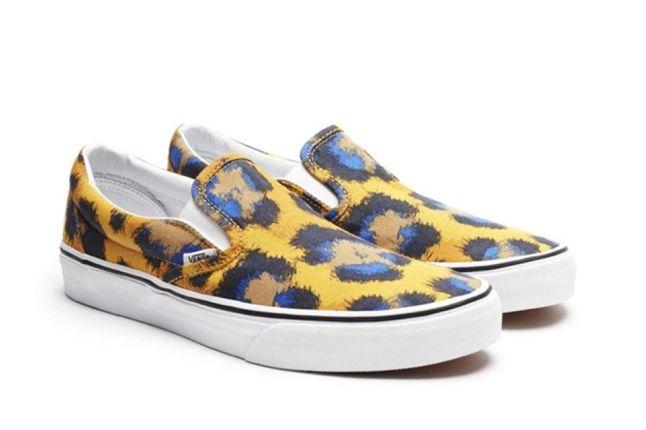 Kenzo X Vans Leopard Pack Yellow Blue Slip On 1