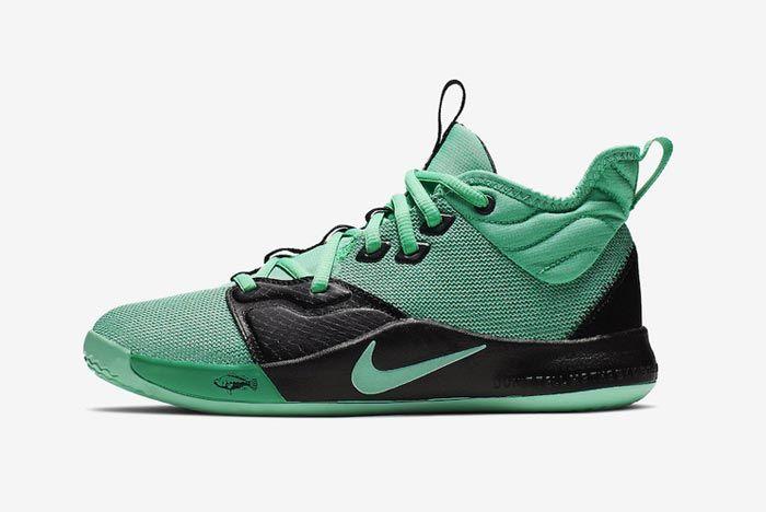 Nike Pg3 Menta Green Lateral