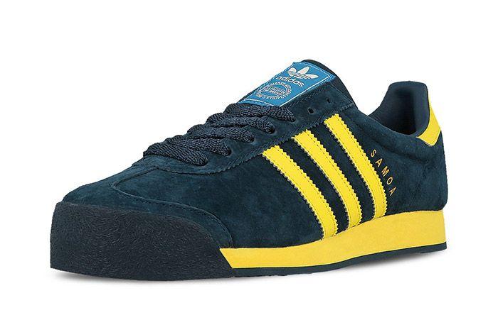 Adidas Samoa Vintage Svenska Blue Yellow 1