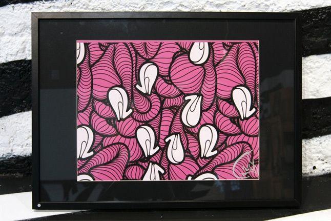 Heel Print Pink 1