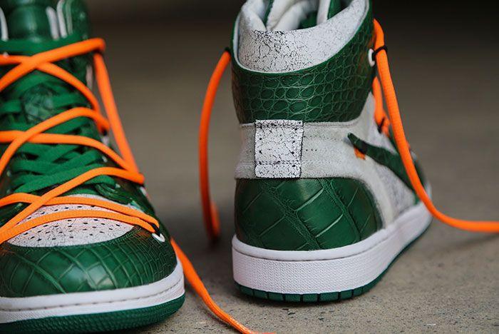 Ceeze Air Jordan 1 Custom Pine Green Off White Hero Shot6