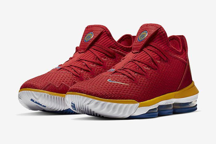Nike Lebron 16 Low Superbron University Red Varsity Royal Ck2168 600 Release Date Pair