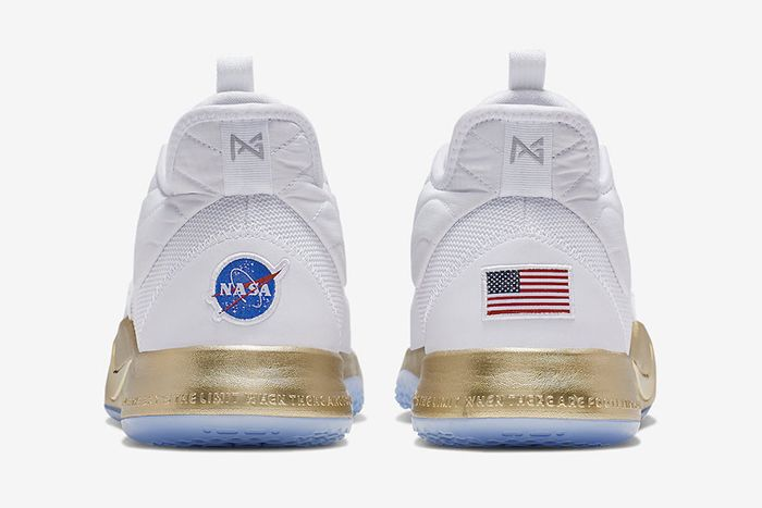 Nike Pg 3 Nasa Apollo Missions White Gold Release Date Heel