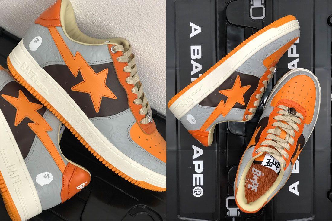 BAPE STA Grey Orange