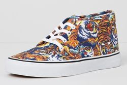 Thumb Vans X Kenzo Chukka Boot Tiger Side