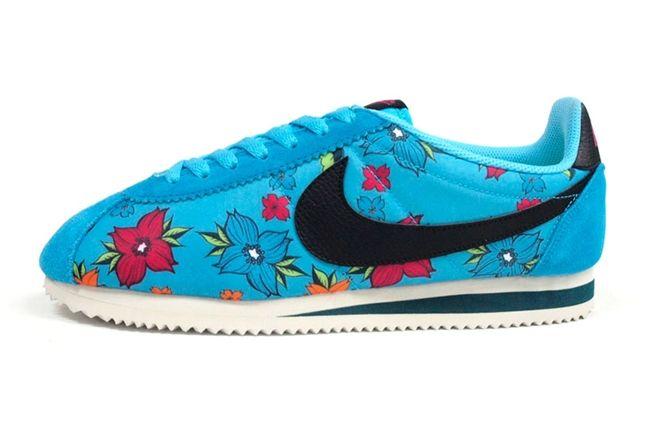 Nike Classic Cortez Nylon Qs Aloha Pack Black Blue 1