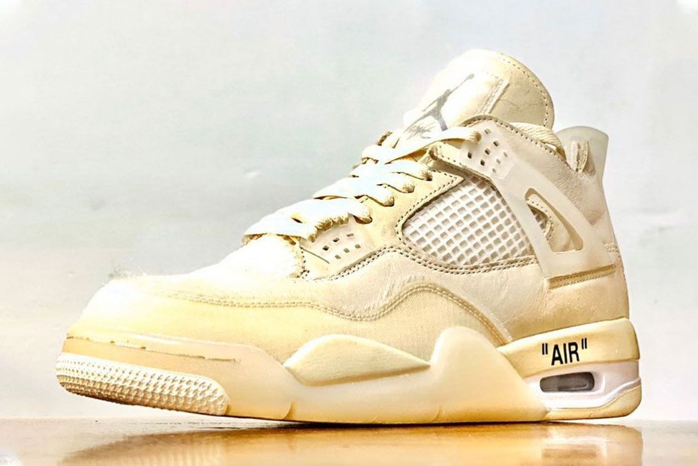 Off-White x Air Jordan 4 'Sail'