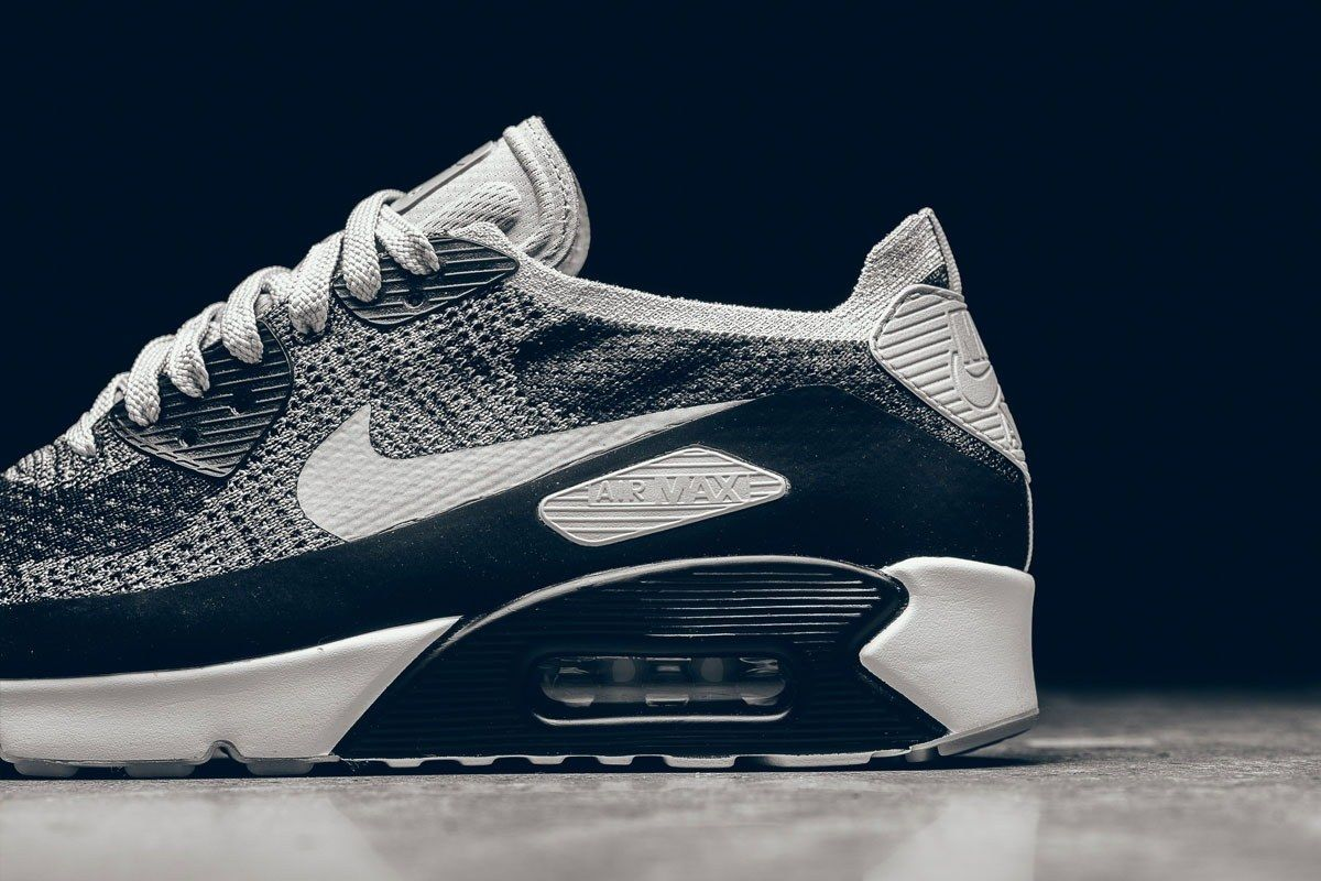 Nike Air Max 90 Ultra Flyknit Wolf Grey Pure Platinum 4