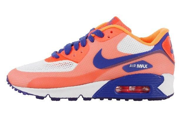 Nike Air Max 90 Premium Hyperfuse 2013 Orange Side 1